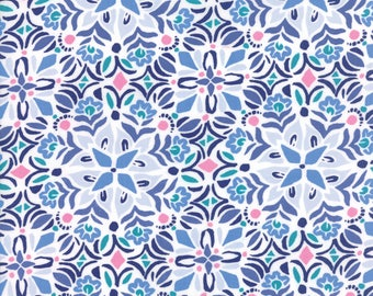 Blue Voyage Fabric - 27283 25 - Kate Spain - Moda