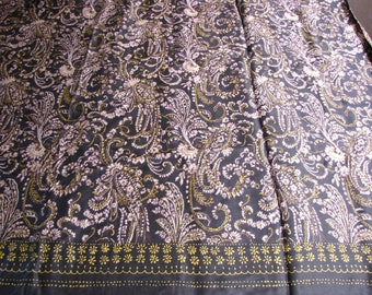 Vintage Fabric, John Kaldor Fabric, Paisley Fabric, Rayon, RAyon blend, boho fabric, Dress Fabric, Pillow Fabric, Yoga, Zen Fabric