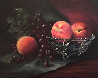 original oil painting canvas art paintings with color and light orange red  unique Christmas gift for Christmas for her