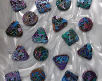 18 unusual funky handmade buttons (set18_23)
