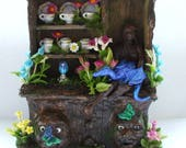 Gothic Witch Hidden Tree Warrior guardian dragon Magical Alice in Wonderland inspire fairy Hutch dollhouse miniature fairytale ooak