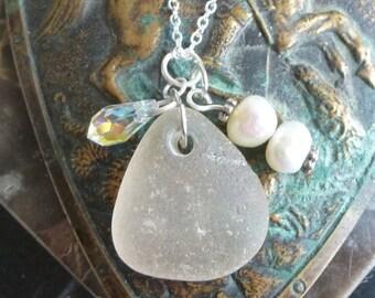 ON SALE Sea Glass Jewelry...Serenity Sea Glass Necklace