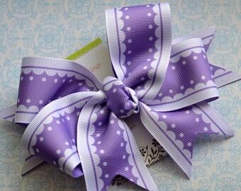 Lavender Lattice Edge XL Diva Bow