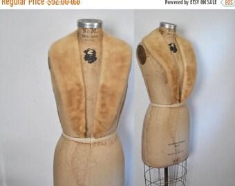 SALE Large Blonde Mink Fur Collar / vintage