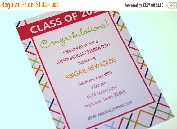 SALE Graduation Party, Announcement Invitation