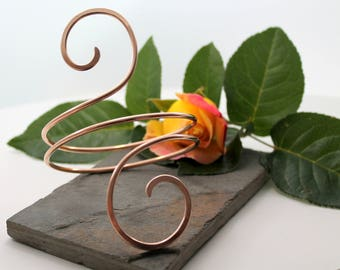 Double Spiral Bronze Armlet, Arm bracelet, Cuff