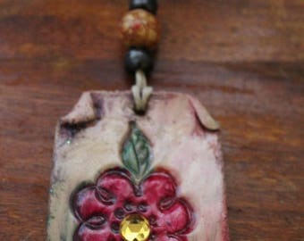 super sale handmade clay necklace