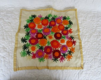 Vintage Needlepoint Flowers Ready to work with
