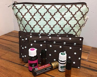 Essential Oils Bag, TRELLIS, Oils Storage, Oils Case, Oils carry case, Aromatherapy Bag, makeup bag, Essential Oil tote, Oils carry bag