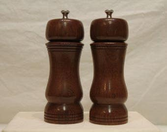 7 Inch HARDWOOD SALT and PEPPERMILL Numbers 1562  1563