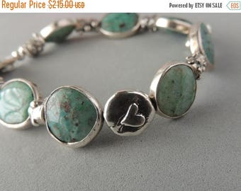 30% OFF CIJ Artisan Jewelry, Artisan Handcrafted Silver, Chrysocolla Quartz, Rare Gemstones, Designer Beads, Urban Chic Jewelry,