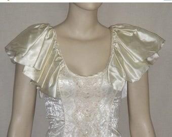 SUMMER SALE Deadstock Vintage Karen Okada Climax Mermaid Ruched Dress Gown 5