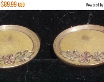 ON SALE Vintage S&C Segal Co Victorian Gold Filled Rose Cuff Links Cufflinks Floral