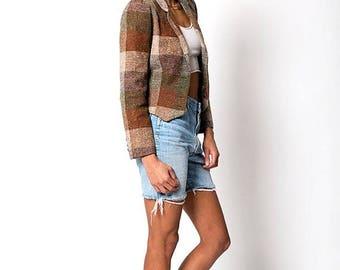 40% SUMMER SALE The Vintage Plaid Flannel Blazer Jacket