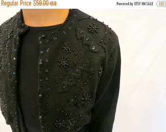 40% OFF The Beaded Black Cardigan