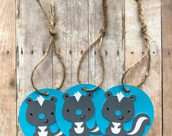 12 Lil Stinker Skunk Gift/Favor Tags