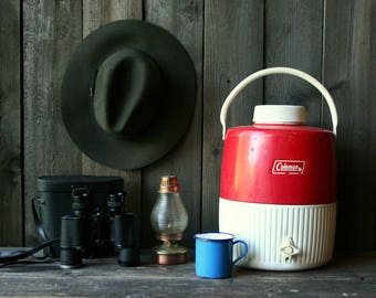 Vintage Coleman Water Cooler With Spout /Red /Water Jug /Camping/ Sports Otdoors/ Vintage From Nowvintage on Etsy