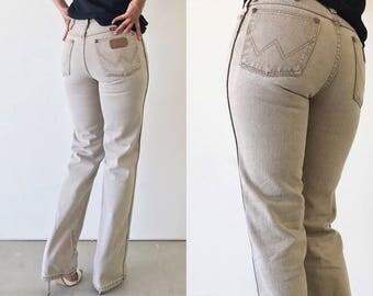 Vintage 90s Tan Sandblast High Waist Wrangler Straight Leg Jeans - 26/S