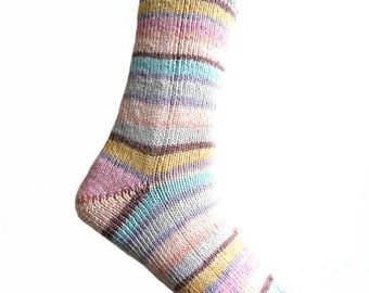 Socks Striped, cotton, size EU 40 - 41/US 9.5 - 10.5/UK 7.5 - 8.5