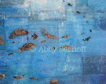 Seascape, Ocean Print, Ocean Art, Contemporary Art, Wall Art, Inspirational, Mixed Media, Colorful, Art Print, 8 x 10