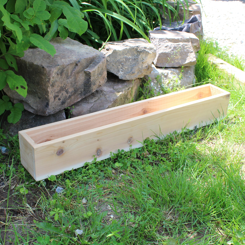 cedar wood planter box large outdoor planters wooden boxes. Black Bedroom Furniture Sets. Home Design Ideas
