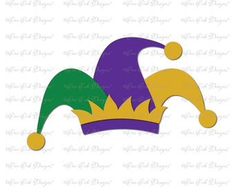 Mardi Gras Hat  SVG DXF pdf png jpg for Cameo Cricut & other electronic cutters