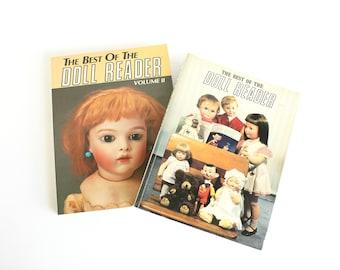 Vintage Best of Doll Reader Magazine Volume I & II Softcover Collectible Modern Antique Artist Dolls