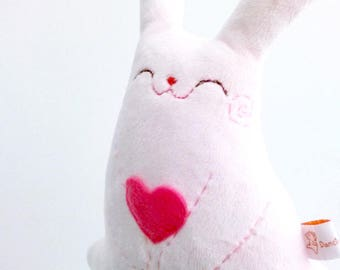 Pink, stuffed bunny, stuffed rabbit, plush rabbit, bunny plush, plush bunny, bunny plushie, cute plushie, rabbit toy, nursery decor, rabbit