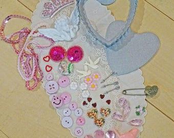 Valentine creativity kit - embellishments - bits and bobs - NO104