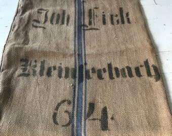 Antique Grain sack, horse feed,