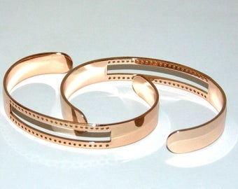 Centerline Rose Gold Plated Adjustable Bracelet Cuffs Package Of 2