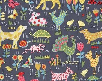 Michael Miller Fabric Backyard Friends in color cloud Choose your cut