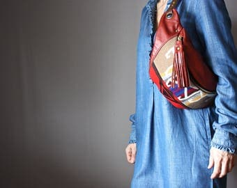 Leather utility bag, Traveler Fanny Pack, Leather Waist Bag, Hip Bag, Leather Pouch, Belt bag,  crossbody bag, leather shoulder bag