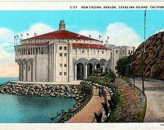 Vintage California Postcard - The Catalina Casino, Catalina Island (Unused)