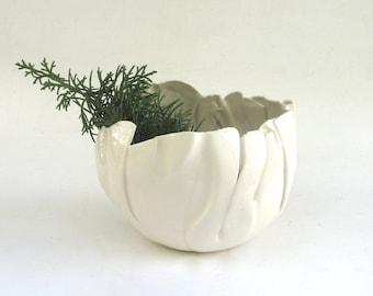 hand built porcelain bowl  ...   balloon bowl