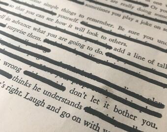 Tricks Black Out Poem