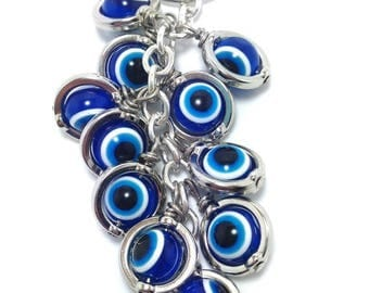 Greek evil eye keyring - dark blue - Greek amulet - Car/home gift - Made in Greece - Greek amulet - Lucky eyes - Car accessories