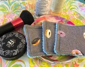Donuts  |  Set of 3 Reusable Cosmetic Pads  |  Washable Makeup Removal Wipes  |  Eco-Friendly Beauty  |  Includes Mesh Pouch