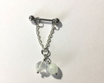 Pierced Nipple Barbell Jewelry- Glow in the Dark