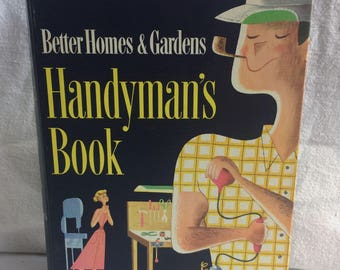 50s Mid Century House book, Handyman Book, 1950s Homes, Retro, MOD, Vintage House book, Better Homes and Gardens