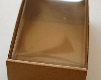 25% Off Summer Sale Heavy Kraft Cardboard Boxes set of 25 - Clear Top - 4 x 2 3/4 x 1 3/8 -Perfect Size for Gifts or Packaging