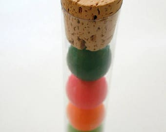 """25% Off Summer Sale 100 QTY 6"""" Clear FDA Plastic Gumball Tubes - Bubble Gum Favor Tubes and Corks"""
