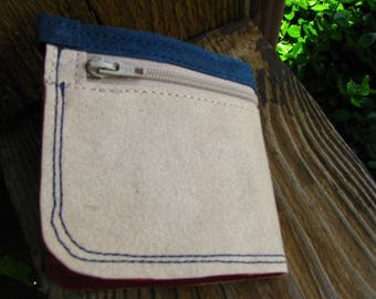 Minimalist Wallet, Eco-friendly Wallet, Waxed Ultra Suede, Easy on the Go Wallet, Cards, Cash, Change, Lipbalm Pockets