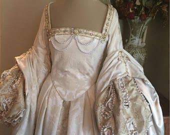 RESERVED Renaissance Court Anne Boleyn Tudor dress costume by MattiOnline on Etsy CUSTOM
