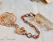 Clear Quartz Copper Pendulum