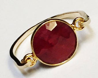 July Birthstone   Ruby Ring   Ruby Gemstone Ring    Ruby Jewelry  14K Gold Filled Ring