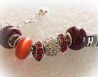 Virginia Tech Hokies bracelets INSPIRED jewelry bracelets handmade