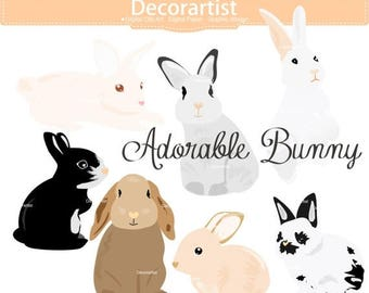 ON SALE Easter clip art, bunny clip art,rabbits clip art, baby rabbit clip art,easter day clip art, INSTANT Download