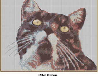 Custom Cross Stitch Chart of Your Pet or Other Photo