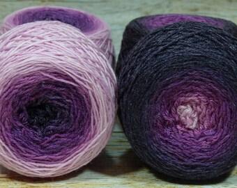 """Full """" Evil Stepmother """" - Lleaf Handpainted Gradient Sock Yarn"""